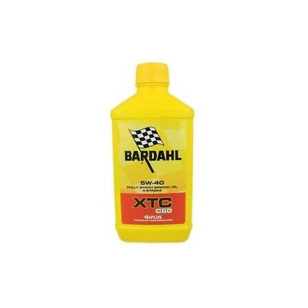 Motorcycle engine oil and scooter XTC C60 5W-40 1 litro Bardahl