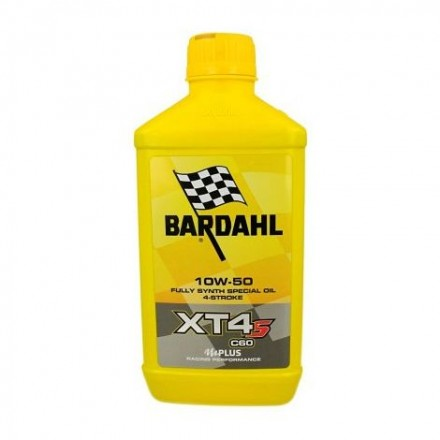 Motorcycle engine oil and scooter XT4-S C60 10W-50 1 litro Bardahl