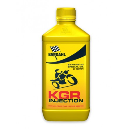 Motorcycle engine oil and scooter 2 times KGR INJECTIO 1 litro Bardahl
