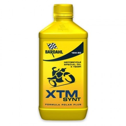 Motorcycle engine oil and scooter XTM POLAR PLUS 15W-50 1 litro Bardahl