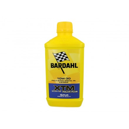Motorcycle engine oil and scooter XTM POLAR PLUS 10W-30 1 litro Bardahl