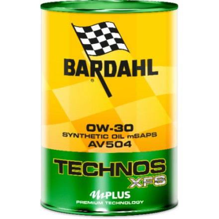 Car engine oil TECHNOS XFS AV504 0W-30 1 litro Bardahl