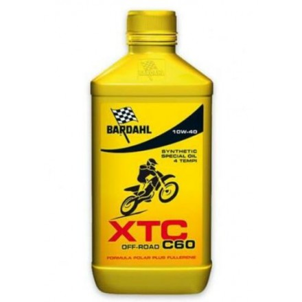 Motorcycle engine oil and scooter XT4-S C60 OFF ROAD 10W-40 1 litro Bardahl